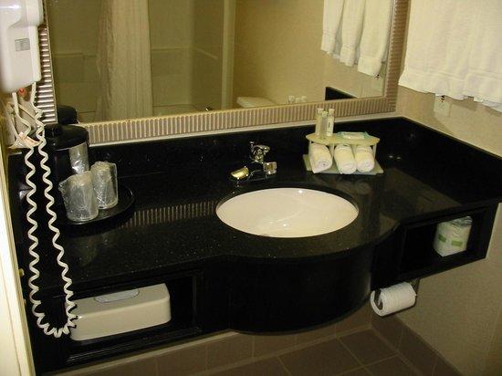 Holiday Inn Express Alpharetta-Roswell: Clean bright bathroom