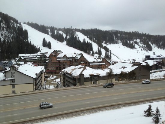 Winter Park Mountain Lodge:                   Views from hotel room (left to right)