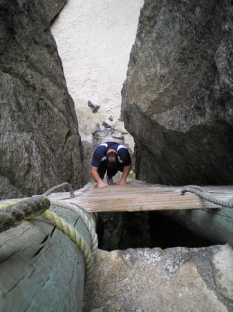 Climbing down into Togo Chasm