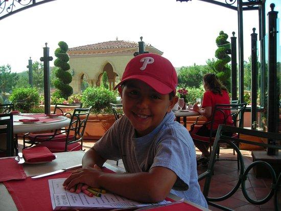 Fairmont Grand Del Mar:                   breakfast on the patio