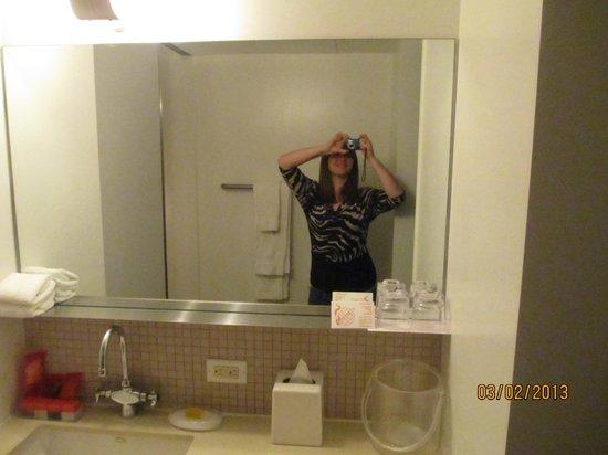 Room Mate Grace:                   Bathroom mirror/sink area