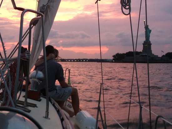 Narwhal Yacht Charters : Sunset after a proposal!