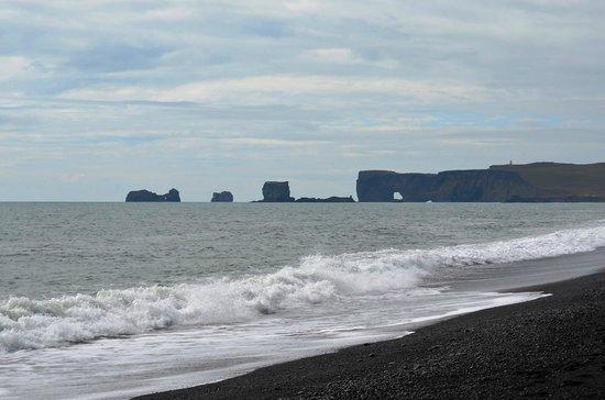 Black Sand Beach: Dyrhólaey from Reynisfjara