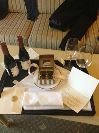 Hotel Commonwealth:                   The awesome birthday gift sent up by the front desk