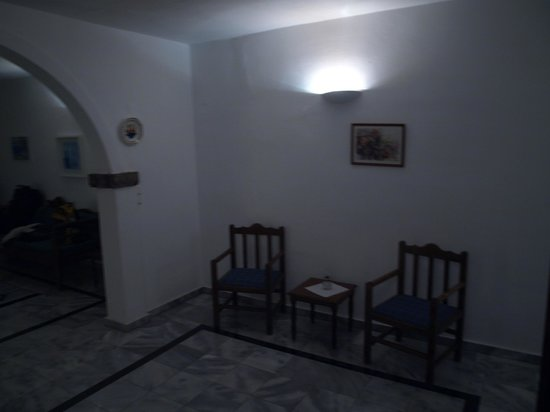 Aethrio Hotel:                                     living area