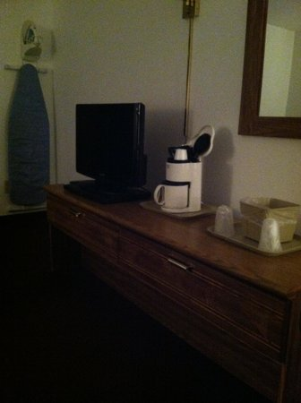 St. Croix Casino & Hotel Turtle Lake :                   Dresser with TV and coffee maker
