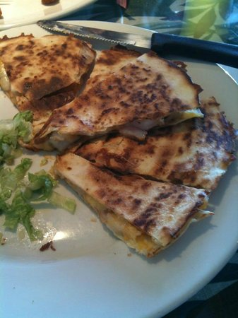 Ocean Harvest Market & Grill: Shrimp quesadillas -- house favorite and large enough for 2!