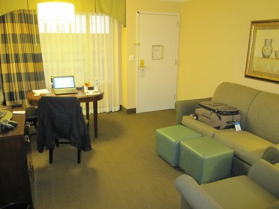 Embassy Suites by Hilton Baltimore BWI - Washington Intl. Airport: Standard living room -- nothing special, mostly clean