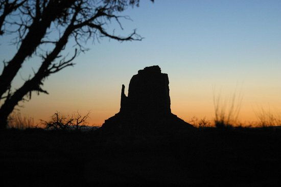 Monument Valley Navajo Tribal Park:                   Sunrise at Monument Valley . . .