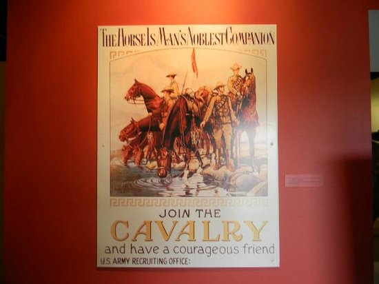 Presidio Museum:                                     Cavalry recruiting poster