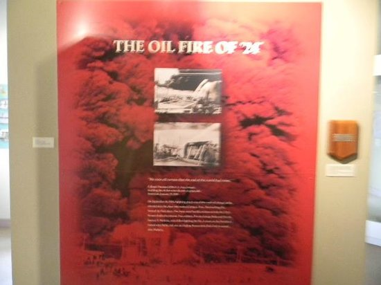 Presidio Museum:                                     The great oil fire of 1924