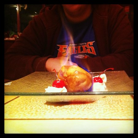 Chop Stick Cafe :                   Fried Ice Cream, on FIRE!