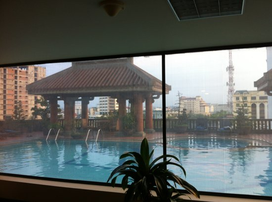 Imperial Hotel:                   from gym: view on swimming pool