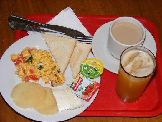 Apartotel Eslait: El desayuno incluido en el precio.