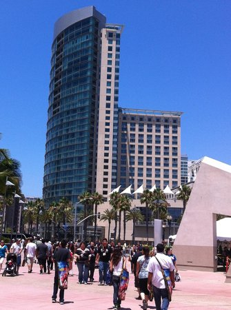 Omni San Diego Hotel:                                     A view of the hotel from the action of Comic-Con!