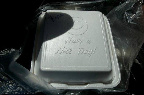 Geste Shrimp Truck:                   Happy container!