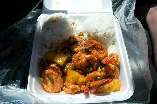 Geste Shrimp Truck:                   Spicy pineapple