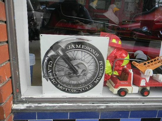 Jameson Classic Motorcycle Museum:                   Front Window Emblem