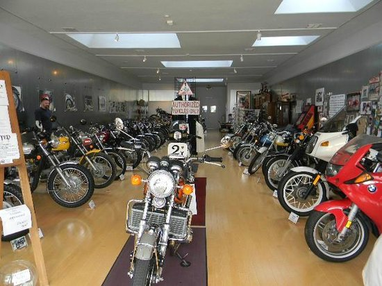 Jameson Classic Motorcycle Museum:                   View from open front door of museum