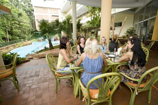 Golf Course Hotel: Bamboo Terrace (coffee shop) over looking the pool