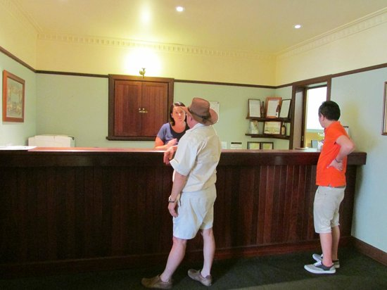 Front Desk of Margaret River Hotel