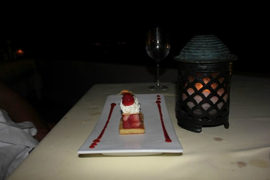 Hilton Bora Bora Nui Resort & Spa:                   Dessert at Iriatai