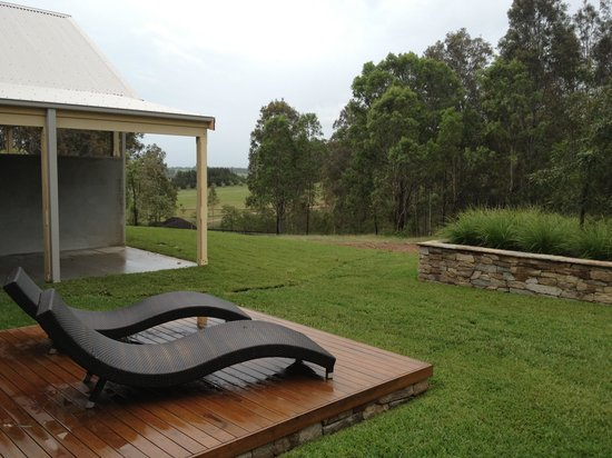 Spicers Vineyards Estate:                   View from the back door