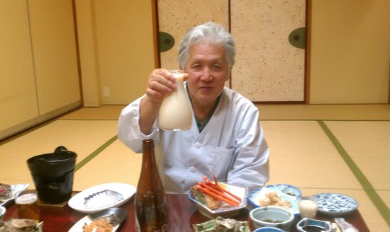 Kozakaiso :                   Owner, dinner and home made Japanese Sake