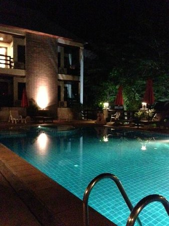 Sea Breeze Place:                   The pool at night