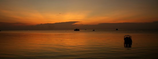 Goodtime Adventures, Koh Tao:                   Sunset from Goodtime Adventures' patio