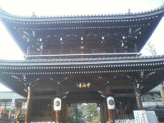 Nakayama-dera:                   お寺の大門