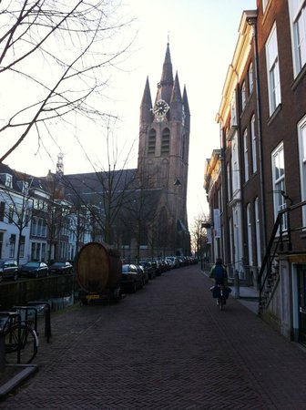 Best Western Museumhotels Delft:                   Leaning Church across from Hotel