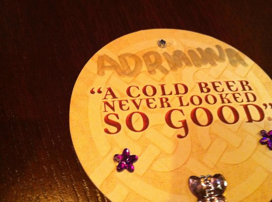Tilted Kilt:                   Server's Personalized Coaster