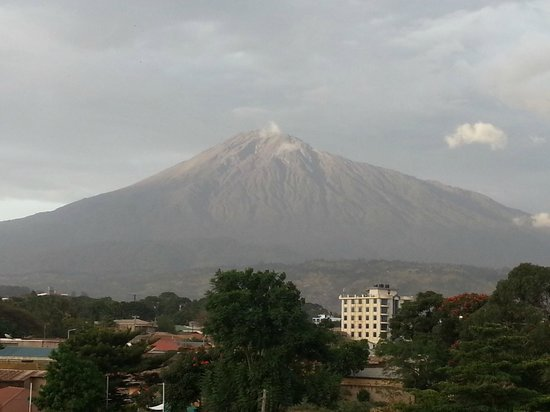 Premier Palace Hotel:                   Mt. Meru View from room on 3rd floor