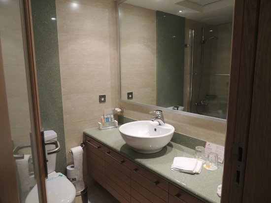 Atlantica Golden Beach Hotel:                   Wash basin mirrow hair drier