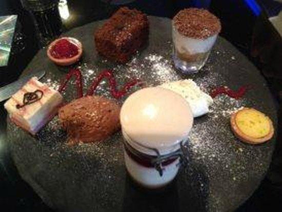 Browns at The Quay:                   dessert platter - sharing optional !