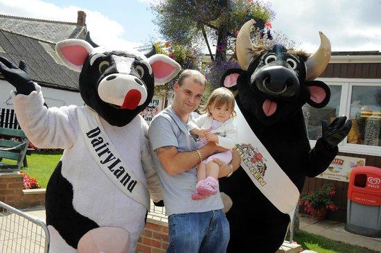 DairyLand Farm World: Our farm mascots Boris and Dazy!