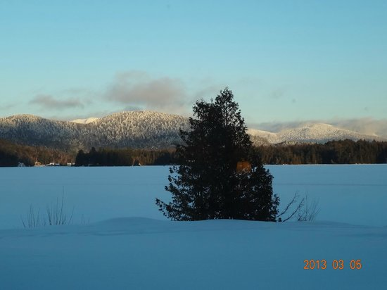 Lake Placid Lodge:                                     view from out room