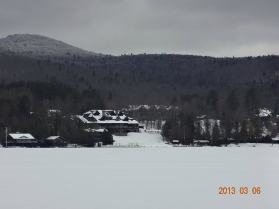 Lake Placid Lodge:                                     view from the ski trails