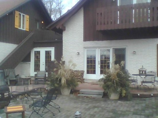 Swiss Woods:                   back yard patio area