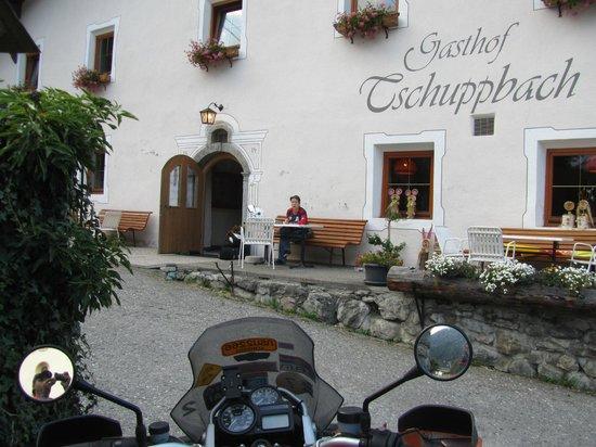 Tosens, Austria:                   Entrance to Guesthouse