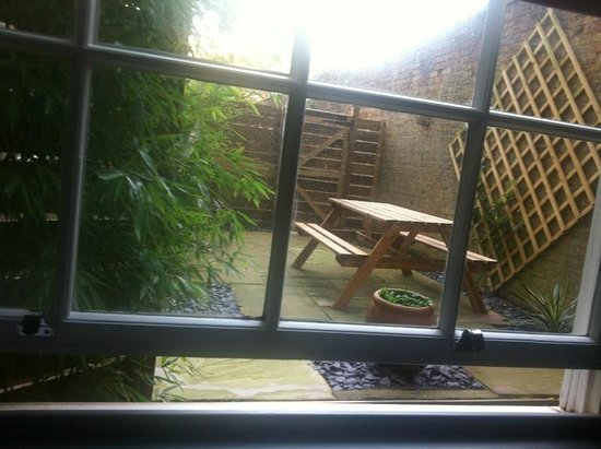 22 Lansdown Place:                   small private garden at Apt 1.. view from bedroom