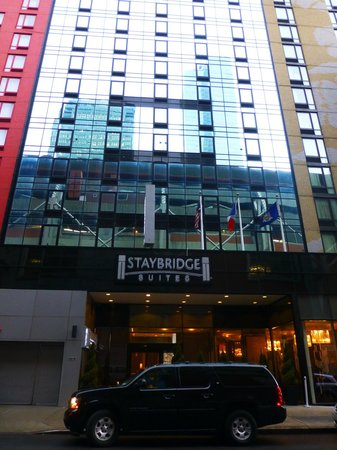 Staybridge Suites Times Square - New York City:                   Front of hotel                 