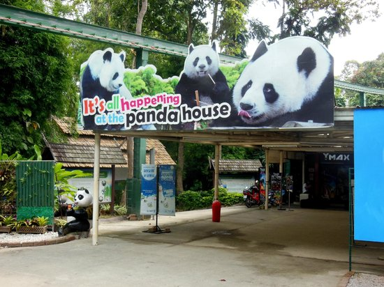 Chiang Mai Zoo: entrance to the panda house