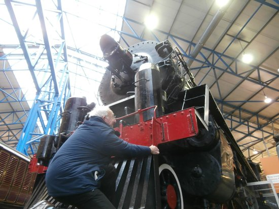 National Railway Museum:                   Helping tob pull the Chinese Monster into place ! HAHAHA !