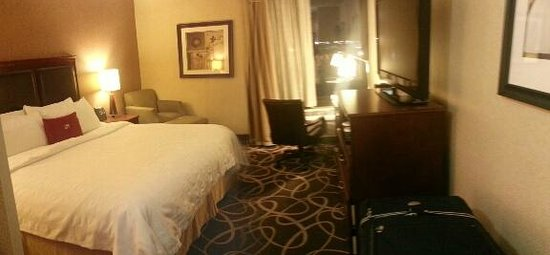"Crowne Plaza Newark Airport:                   Room #506. Small ""motel style"" room."