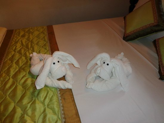 Betel Garden Villas:                                     towels in our room