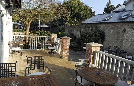 Red Lion: The New Decking out in the Garden