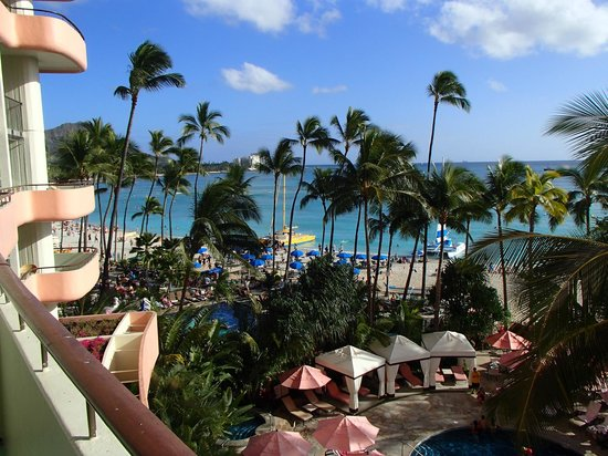 The Royal Hawaiian, a Luxury Collection Resort:                   View from 4th floor