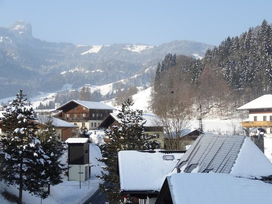 Kirchenwirt Unken:                                     view from the hotel room balcony